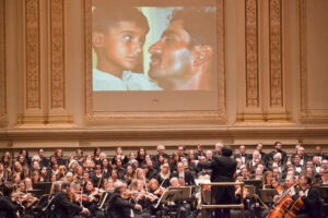 George Mathew leads Beethoven for the Indus Valley concert at Carnegie Hall, 1/31/11. Photo by Chris Lee